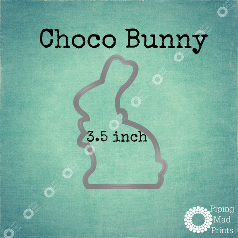Choco Bunny 3D Printed Cookie Cutter - 3.5 inch - Piping Mad Prints - Green Bros Collective