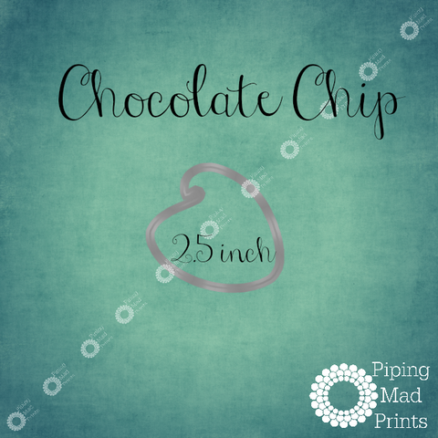 Chocolate Chip 3D Printed Cookie Cutter - 2 inch - Piping Mad Prints - Green Bros Collective