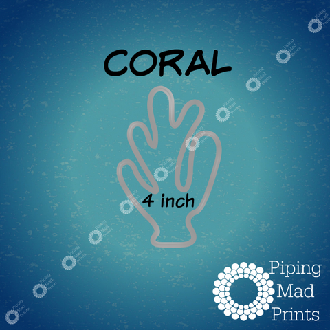 Coral 3D Printed Cookie Cutter - 4 inch - Piping Mad Prints - Green Bros Collective