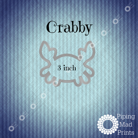 Crabby 3D Printed Cookie Cutter - 3 inch - Piping Mad Prints - Green Bros Collective