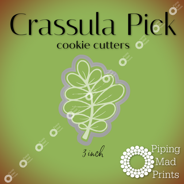 Crassula Pick 3D Printed Cookie Cutter - 3 inch