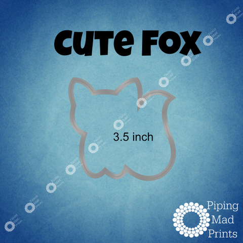 Cute Fox 3D Printed Cookie Cutter - 3.5 inch - Piping Mad Prints - Green Bros Collective