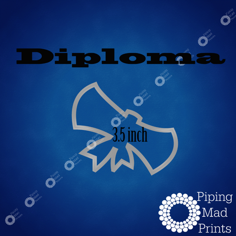 Diploma 3D Printed Cookie Cutter - 3.5 inch - Piping Mad Prints - Green Bros Collective