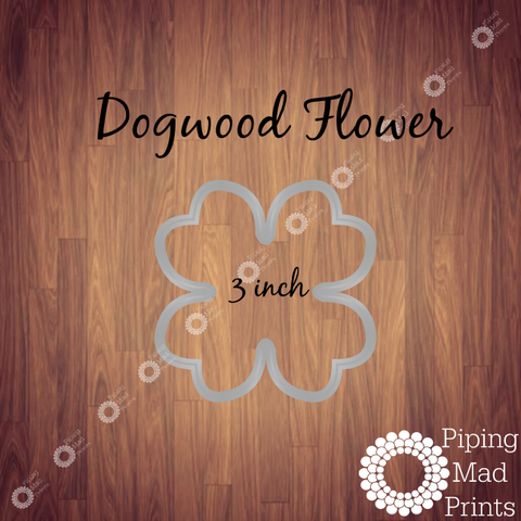 Dogwood Flower 3D Printed Cookie Cutter - 3 inch - Piping Mad Prints - Green Bros Collective