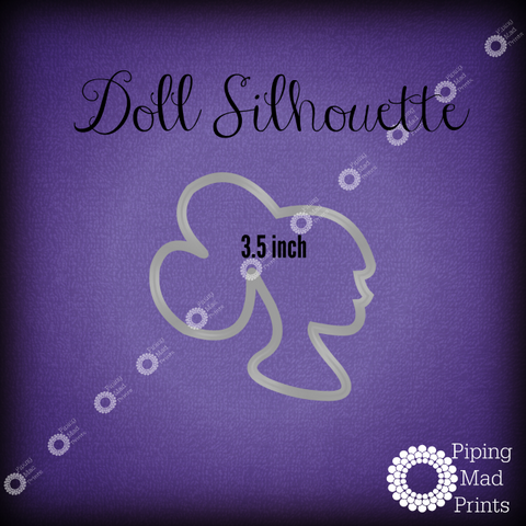 Doll Silhouette 3D Printed Cookie Cutter - 3.5 inch - Piping Mad Prints - Green Bros Collective