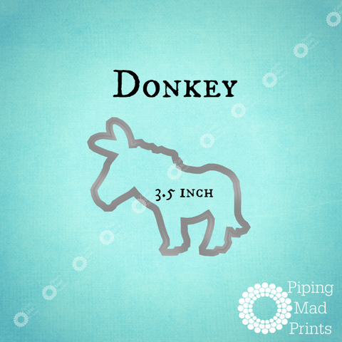 Donkey 3D Printed Cookie Cutter - 3.5 inch - Piping Mad Prints - Green Bros Collective