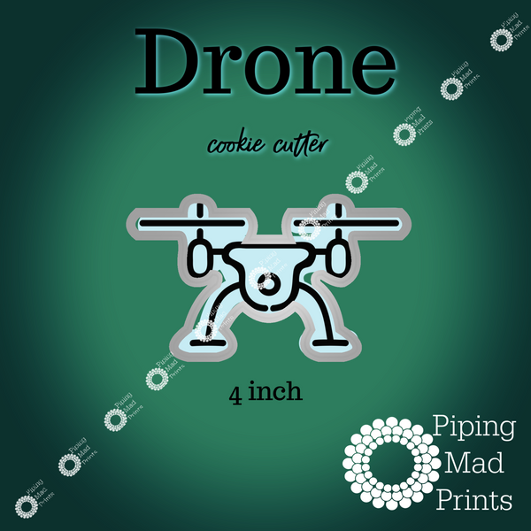 Drone 3D Printed Cookie Cutter - 4 inch