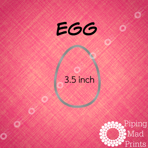 Egg 3D Printed Cookie Cutter - 3.5 inch - Piping Mad Prints - Green Bros Collective
