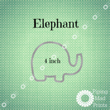 Elephant 3D Printed Cookie Cutter - 4 inch - Piping Mad Prints - Green Bros Collective