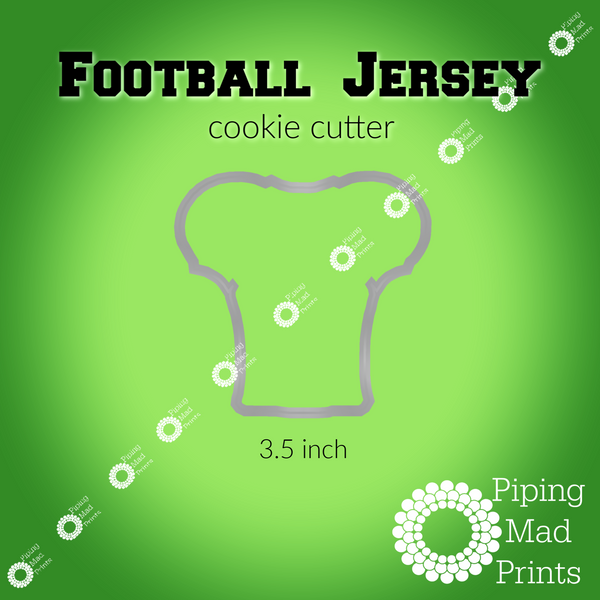 Football Jersey 3D Printed Cookie Cutter - 3.5 inch