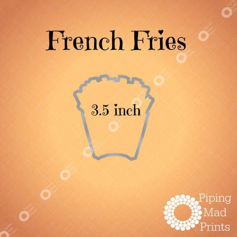 French Fries 3D Printed Cookie Cutter - 3.5 inch - Piping Mad Prints - Green Bros Collective