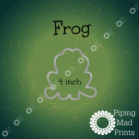 Frog 3D Printed Cookie Cutter - 4 inch - Piping Mad Prints - Green Bros Collective