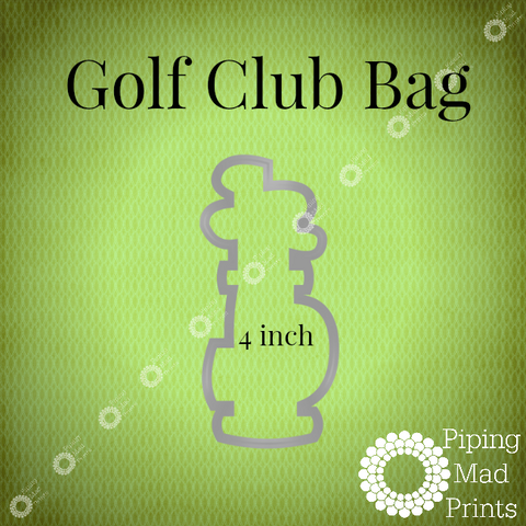 Golf Club Bag 3D Printed Cookie Cutter - 4 inch - Piping Mad Prints - Green Bros Collective