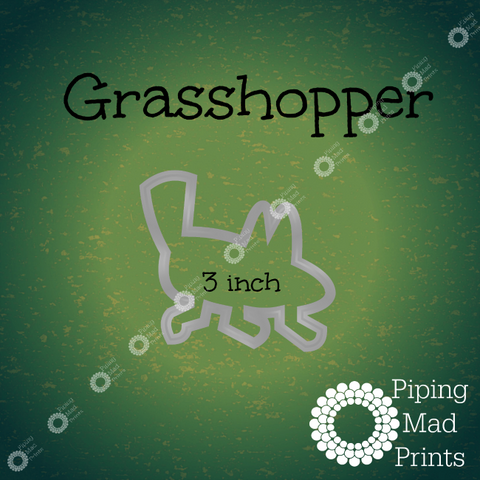 Grasshopper 3D Printed Cookie Cutter - 3 inch - Piping Mad Prints - Green Bros Collective