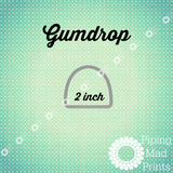 Gumdrop 3D Printed Cookie Cutter - 2 inch - Piping Mad Prints - Green Bros Collective