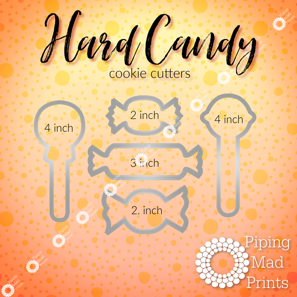 Hard Candy 3D Printed Cookie Cutter Set of 5 - 4 inch
