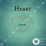 Heart 3D Printed Cookie Cutter - 3 inch - Piping Mad Prints - Green Bros Collective