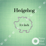 Hedgehog 3D Printed Cookie Cutter - 3.5 inch - Piping Mad Prints - Green Bros Collective