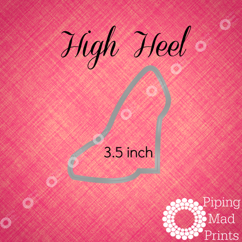 High Heel 3D Printed Cookie Cutter - 3.5 inch - Piping Mad Prints - Green Bros Collective
