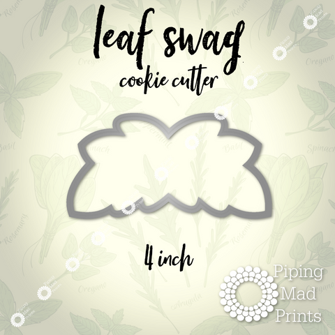 Leaf Swag 3D Printed Cookie Cutter - 4 inch