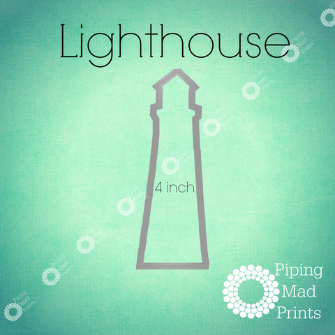Lighthouse 3D Printed Cookie Cutter - 4 inch - Piping Mad Prints - Green Bros Collective