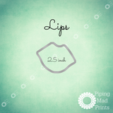Lips 3D Printed Cookie Cutter - 2.5 inch - Piping Mad Prints - Green Bros Collective