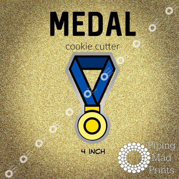 Medal 3D Printed Cookie Cutter - 4 inch