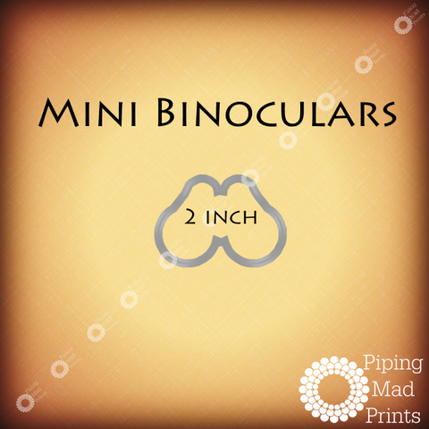 Mini Binoculars 3D Printed Cookie Cutter - 2 inch - Piping Mad Prints - Green Bros Collective