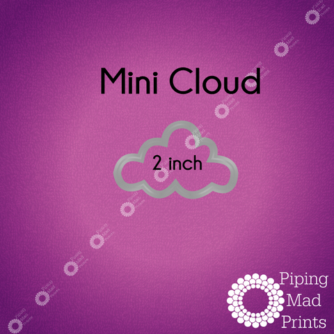 Mini Cloud 3D Printed Cookie Cutter - 2 inch - Piping Mad Prints - Green Bros Collective