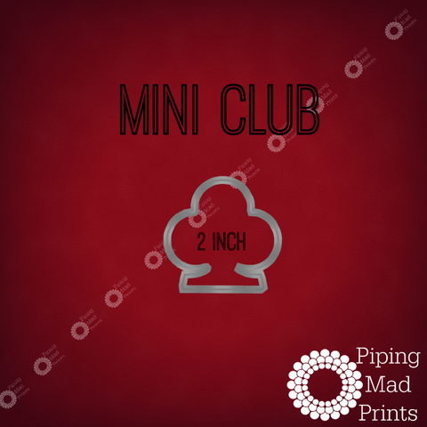 Mini Club 3D Printed Cookie Cutter - 2 inch - Piping Mad Prints - Green Bros Collective