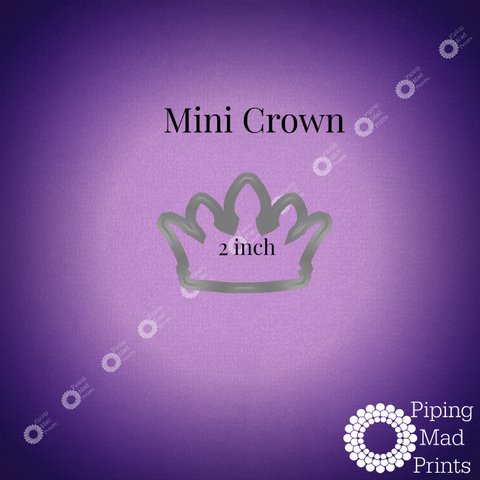 Mini Crown 3D Printed Cookie Cutter - 2 inch - Piping Mad Prints - Green Bros Collective