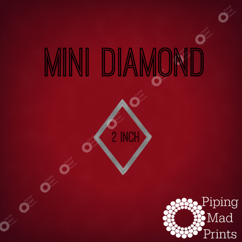 Mini Diamond 3D Printed Cookie Cutter - 2 inch - Piping Mad Prints - Green Bros Collective