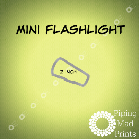 Mini Flashlight 3D Printed Cookie Cutter - 2 inch - Piping Mad Prints - Green Bros Collective