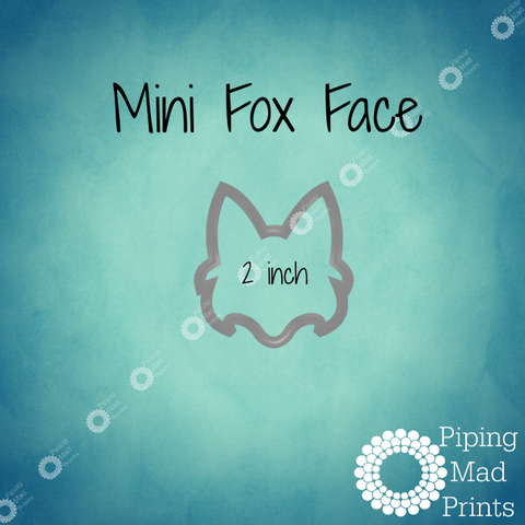 Mini Fox Face 3D Printed Cookie Cutter - 2 inch - Piping Mad Prints - Green Bros Collective