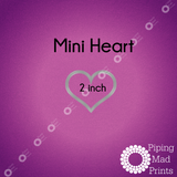 Mini Heart 3D Printed Cookie Cutter - 2 inch - Piping Mad Prints - Green Bros Collective