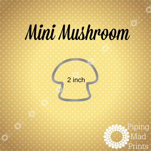 Mini Mushroom 3D Printed Cookie Cutter - 2 inch - Piping Mad Prints - Green Bros Collective