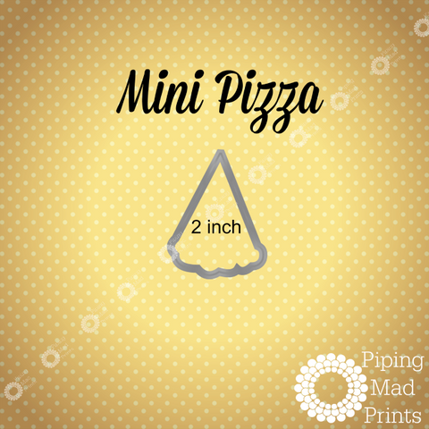 Mini Pizza 3D Printed Cookie Cutter - 2 inch - Piping Mad Prints - Green Bros Collective