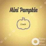 Mini Pumpkin 3D Printed Cookie Cutter - 2 inch - Piping Mad Prints - Green Bros Collective