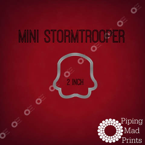 Mini Stormtrooper 3D Printed Cookie Cutter - 2 inch - Piping Mad Prints - Green Bros Collective