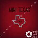 Mini Texas 3D Printed Cookie Cutter - 2 inch - Piping Mad Prints - Green Bros Collective