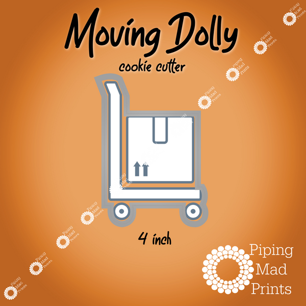 Moving Dolly 3D Printed Cookie Cutter - 4 inch