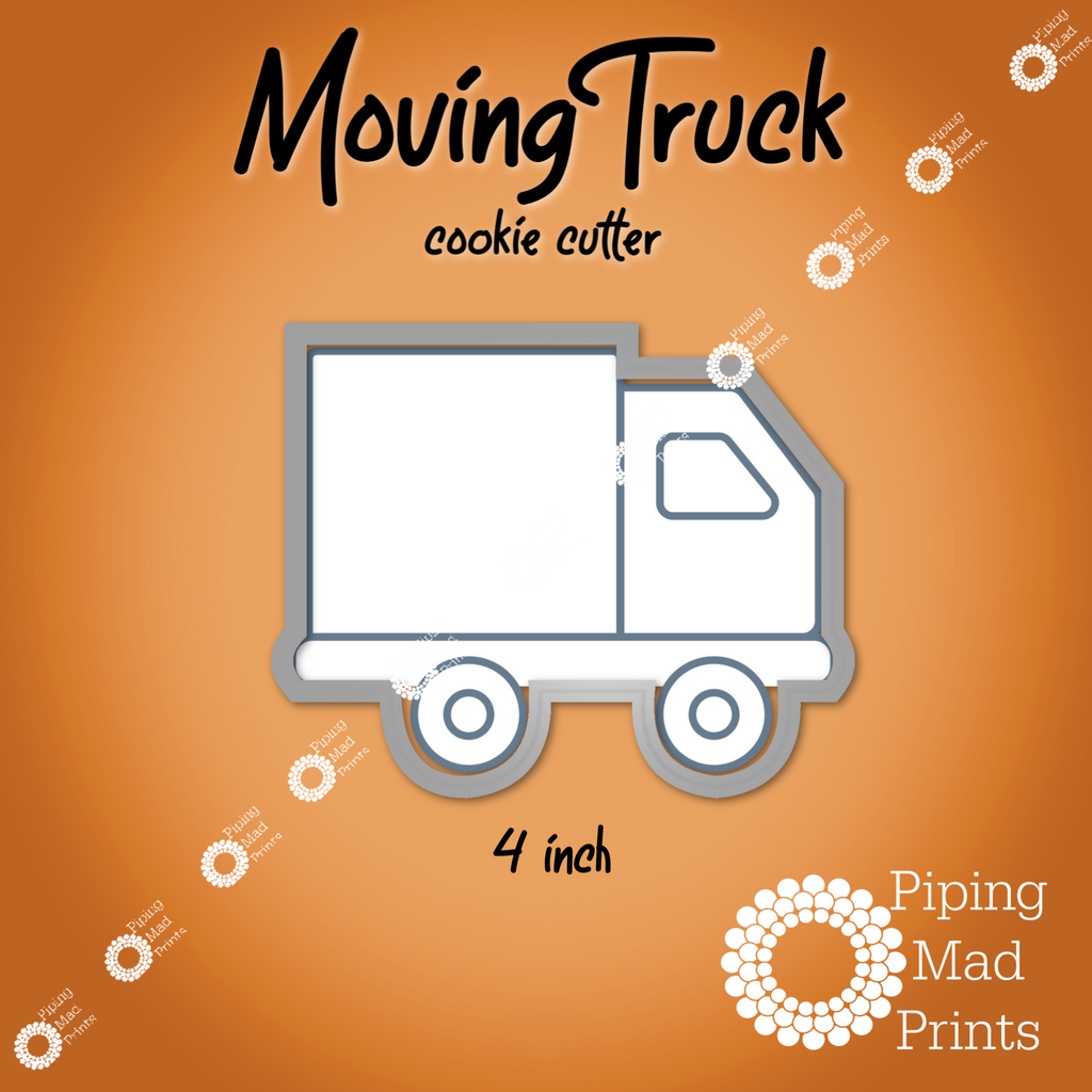 Moving Truck 3D Printed Cookie Cutter - 4 inch