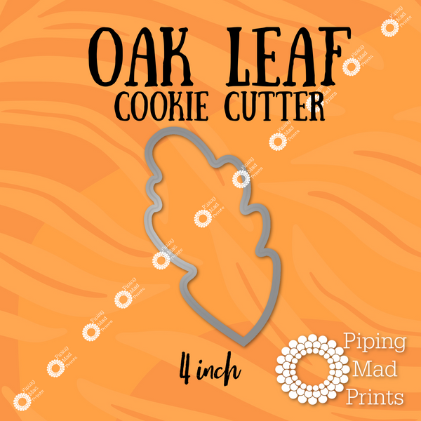 Oak Leaf 3D Printed Cookie Cutter - 4 inch