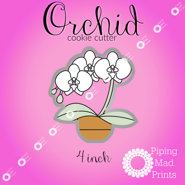 Orchid 3D Printed Cookie Cutter - 4 inch