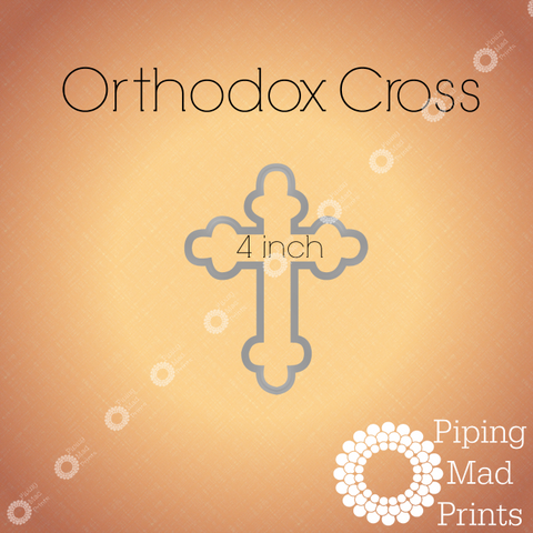 Orthodox Cross 3D Printed Cookie Cutter - 4 inch - Piping Mad Prints - Green Bros Collective
