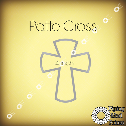 Patte Cross 3D Printed Cookie Cutter - 4 inch - Piping Mad Prints - Green Bros Collective