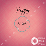 Poppy 3D Printed Cookie Cutter - 2.5 inch - Piping Mad Prints - Green Bros Collective