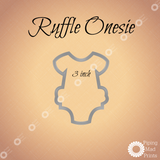 Ruffle Onesie 3D Printed Cookie Cutter - 3 inch - Piping Mad Prints - Green Bros Collective