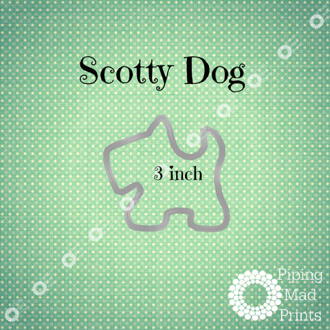 Scottie Dog 3D Printed Cookie Cutter - 3 inch - Piping Mad Prints - Green Bros Collective