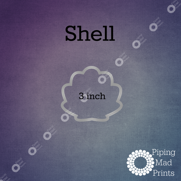 Shell 3D Printed Cookie Cutter - 3 inch - Piping Mad Prints - Green Bros Collective